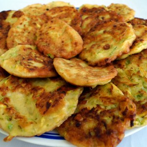 fritters of zucchini