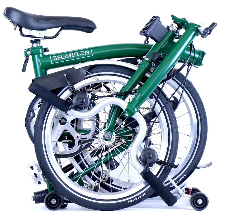 אופני ברומפטון מקופלות ירוקות