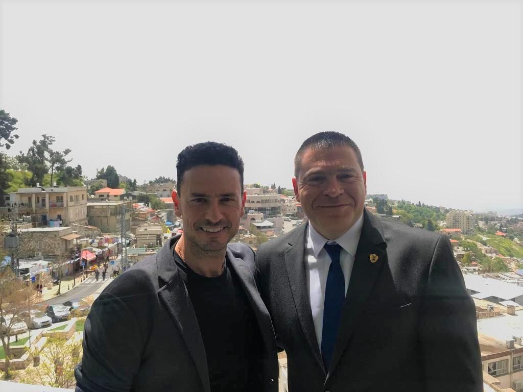 גיא זוארץ וראש עיריית צפת שוקי אוחנה (1)