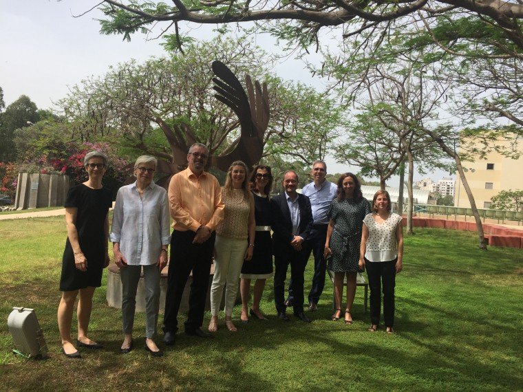 האקדמית נתניה חתמה על הסכם שיתוף פעולה עם אוניברסיטת מונטריאול. בתמונה סגל המכללה עם משלחת מאוניברסיטת מונטריאל