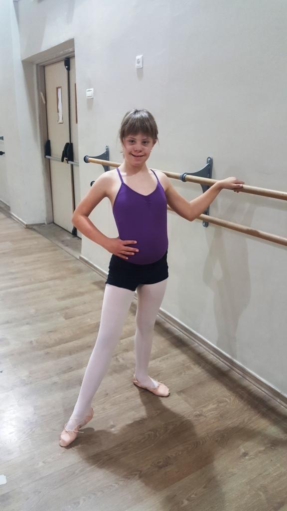 הפנים של נתניה פולינה באימון ריקוד בלט