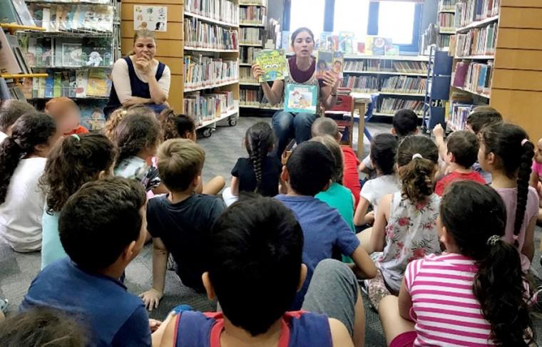 ילדי הגן בספרייה 9.5.18