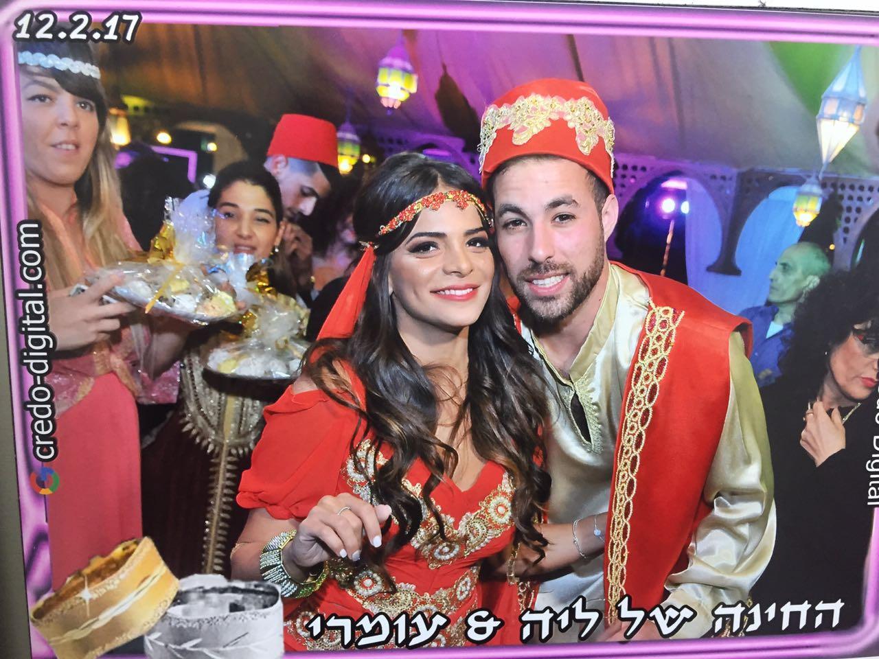 כזוג נסיכים... עומרי זידן וליה אליסוף בטקס החינה במרקש