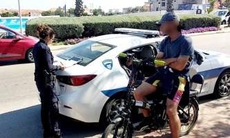 מבצע אכיפה אופניים חשמליים 30.4.18