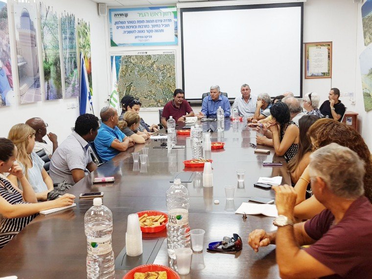 מפגש עם ועדי שכונות 26.7.17