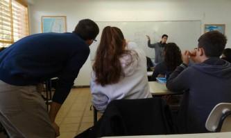 עמית גפני בשיעור מתמטיקה בביהס שי עגנון בנתניה
