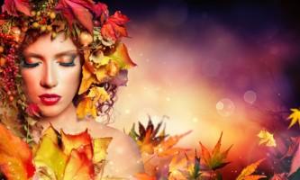 45044909 - magic autumn woman - beauty fashion model girl