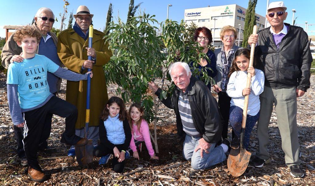 שנות ה 90... הגיל השלישי, מתנדבים ודור ההמשך נוטעים עצים בשם חגיגות יום ההולדת 90 לעיר