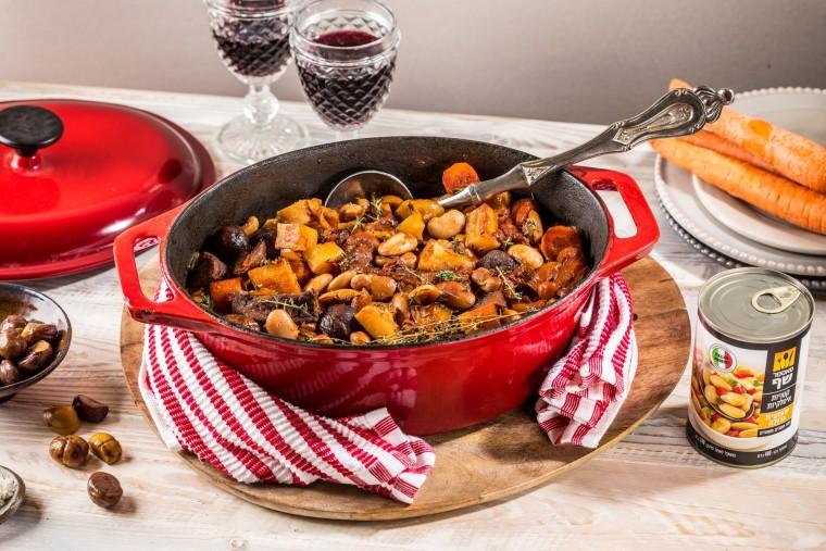 תבשיל בקר עם קטניות איטלקיות צילום יחצ (1)
