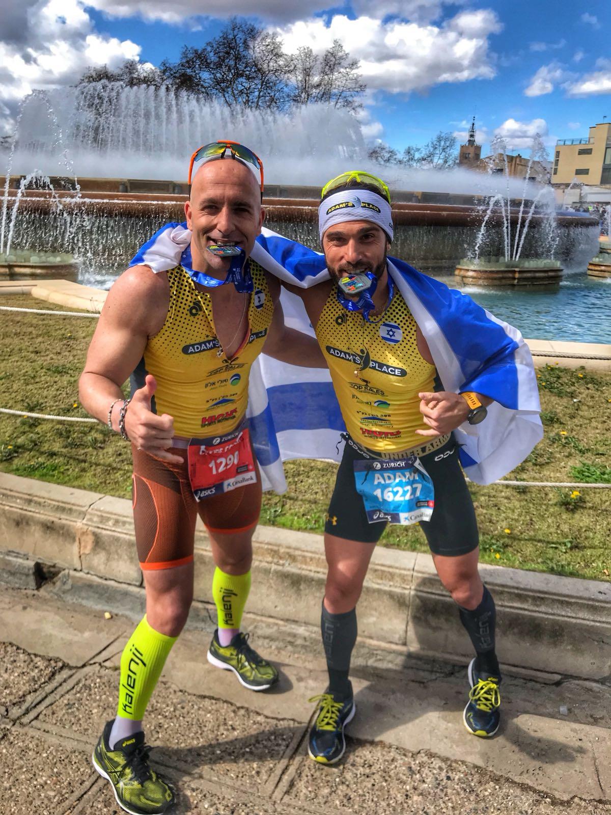 10 ימים 2 מרתונים... אדם כהן ואחיו איב איירונמנים ציוניים בברצלונה