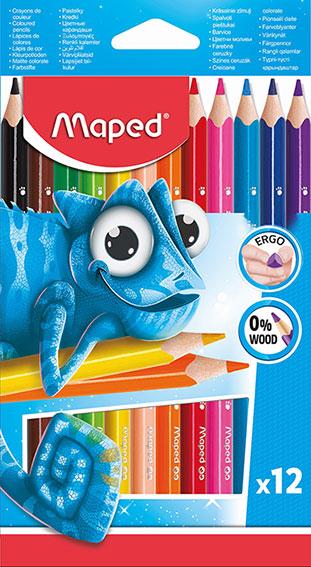 12 צבעי עפרון נטול עץ 11 שח ו90 אג